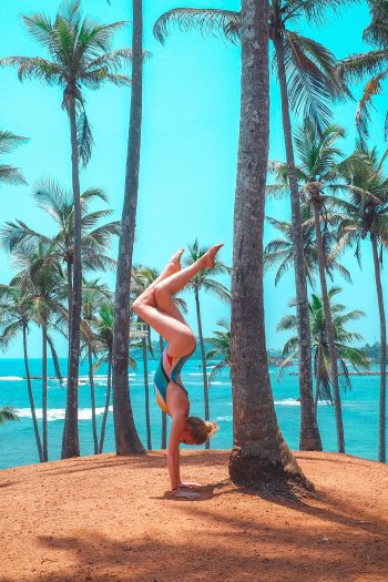 palm tree, yoga, beach