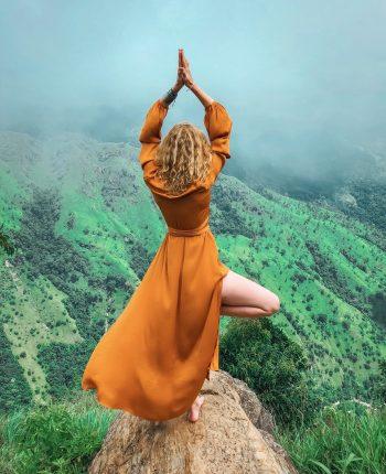yoga, mountain