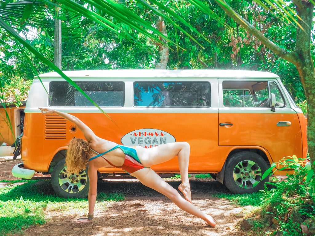 yoga, Volkswagen bus